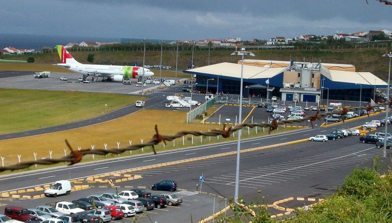 Ponta Delgada Airport on the island of San Miguel
