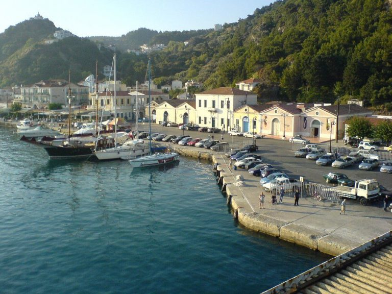 Karlovasi port on Samos island