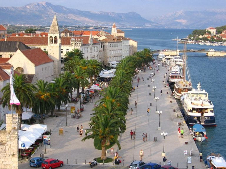 Embankment of the city of Trogir