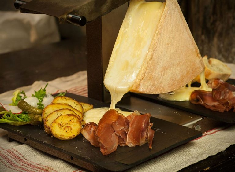 Raclette at the restaurant