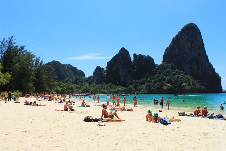 Railay Beach Krabi in Thailand