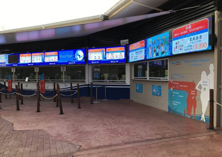 Ticket offices in Ramayana water park