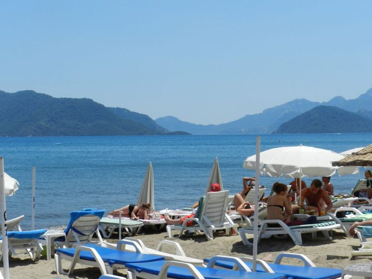 Holidays on the beach in Marmaris
