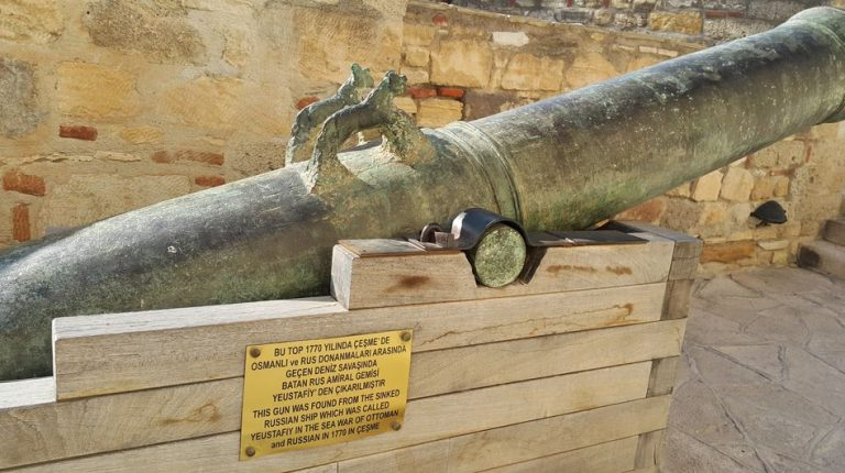 Cannon in Cesme Fortress