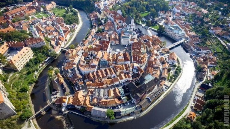 Top view on Cesky Krumlov