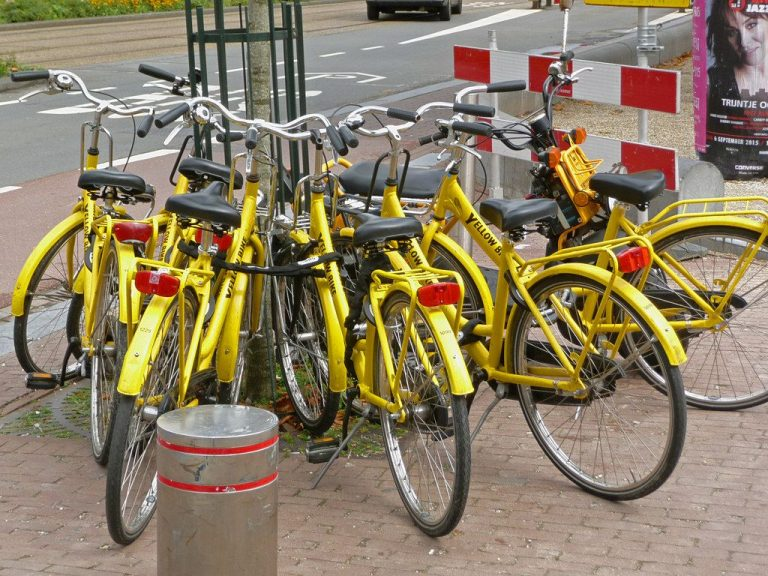 Bicycle Rental Yellow Bike