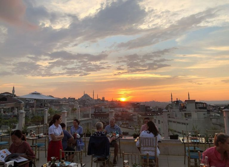 Panoramic view from Roof Mezze 360 ​​restaurant