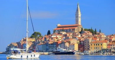 Rovinj beach town in Croatia