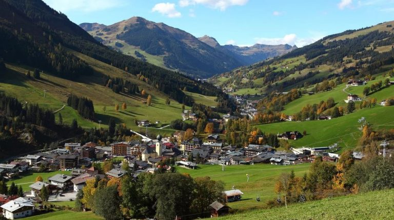 Saalbach in the summer
