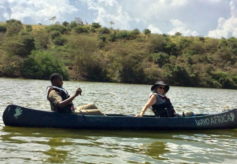 Canoe safari tour
