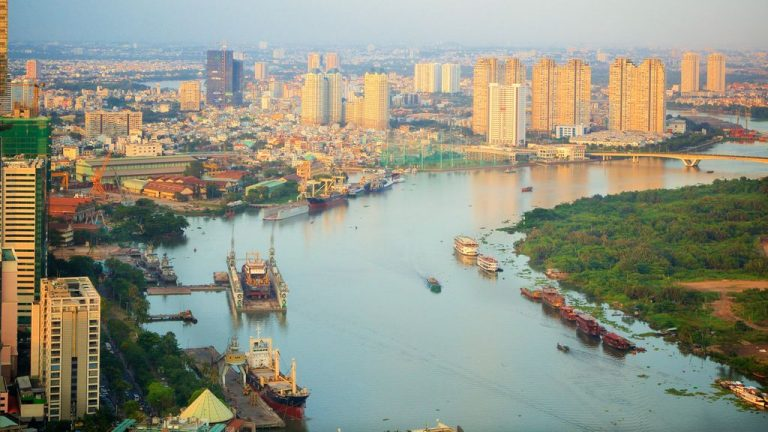 Saigon River in Ho Chi Minh City