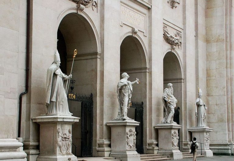 Statues at the entrance
