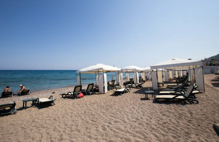 Sandy beach at Rixos Sungate
