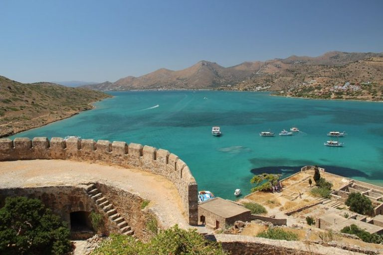 Sea view from the fortress of Spinalonga