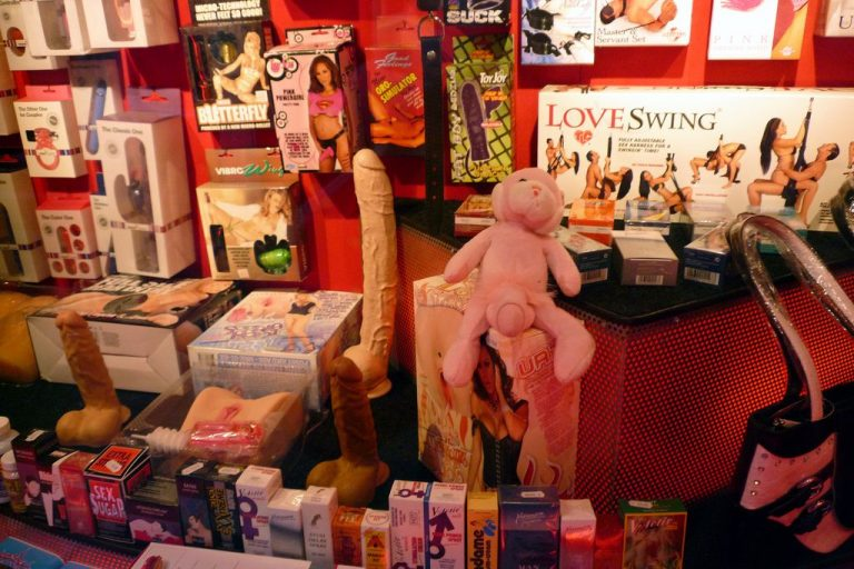 Sex shop on the red light district