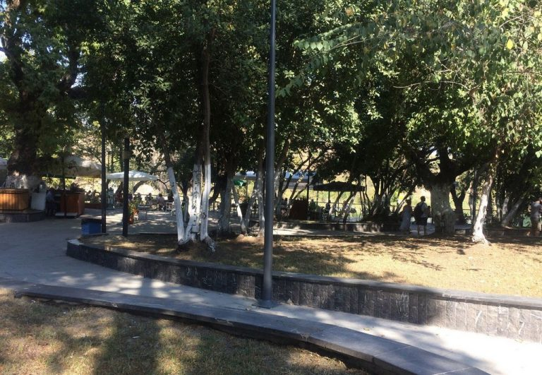 Shady park near Manavgat waterfall