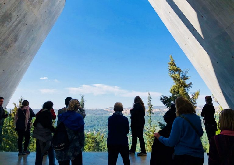 The museum ends with an observation deck