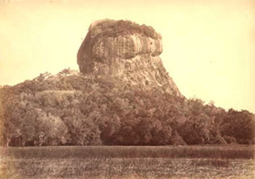 Sigiriya rock at the end of the 19th century