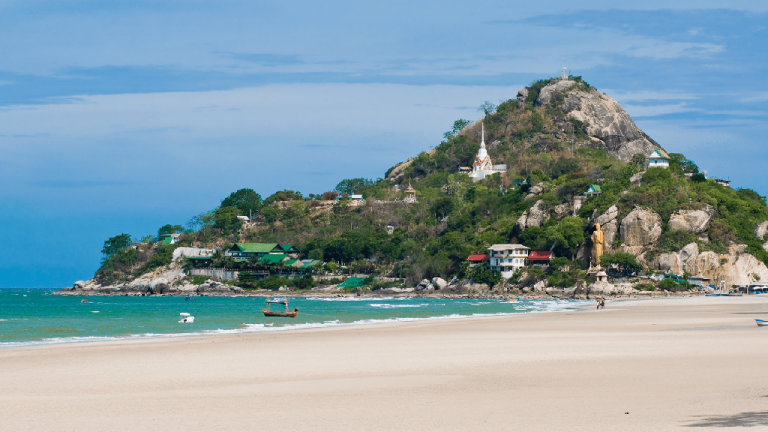 The southern section of the city beach of Hua Hin