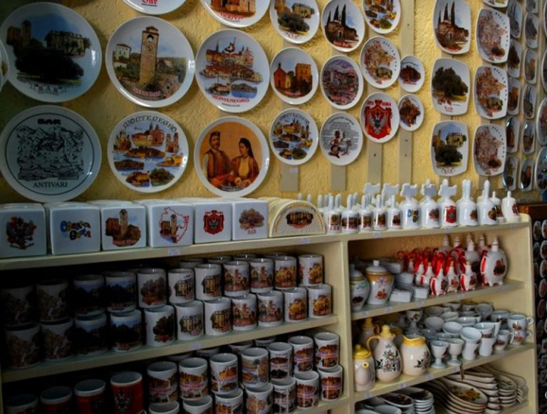 Souvenir dishes from Montenegro