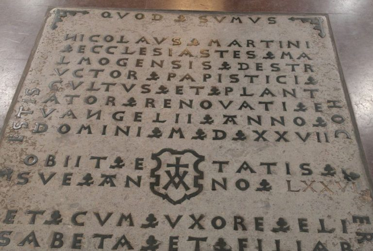 Headstone at the Altar