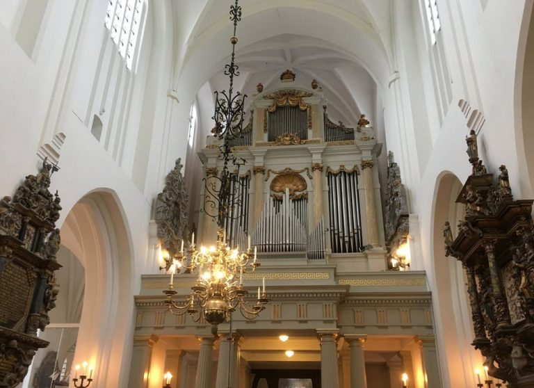 The organ was kept in the church