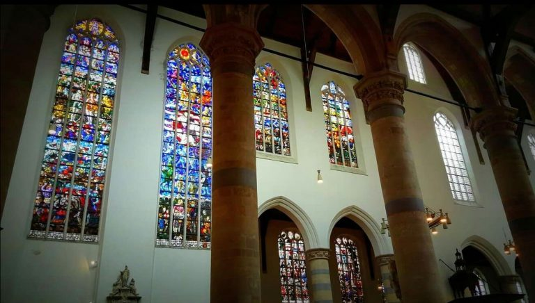Stained Glass at Oude Kerk Temple
