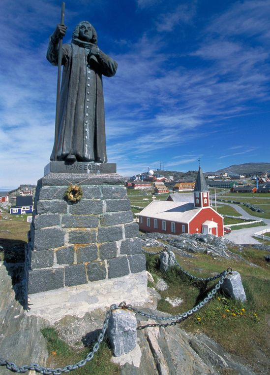 Statue of Hans - founder of Nuuk