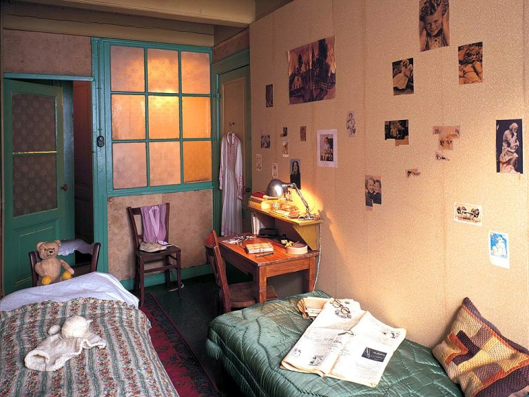 It looked like Anne Frank's room