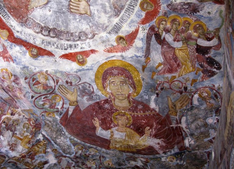 Frescoes in the monastery