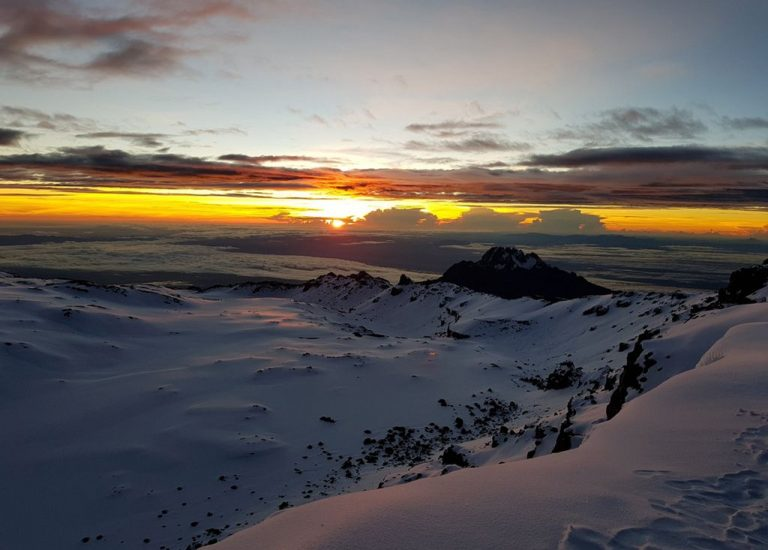 Sunrise with Kilimanjaro