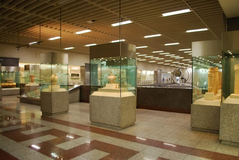 At the Athens metro stations you can admire archaeological finds