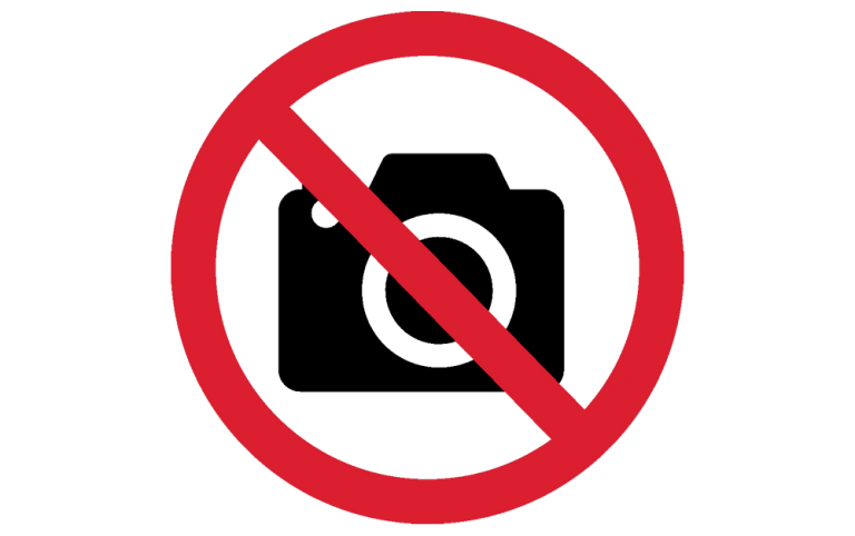 Camera and phone prohibited