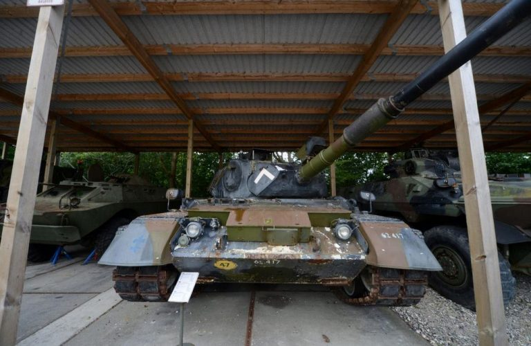 Tank and armored vehicles in the museum