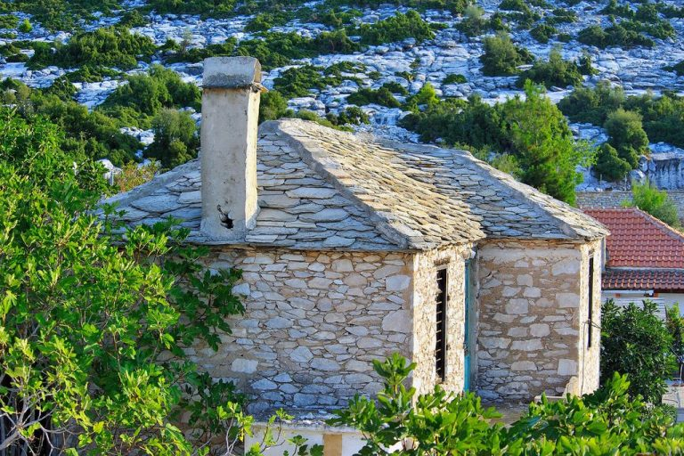 Such houses in the village of Theologos on the island of Thassos