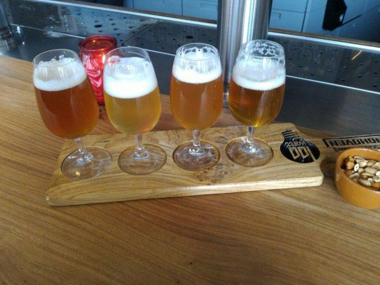 Tasting local beer, Eindhoven