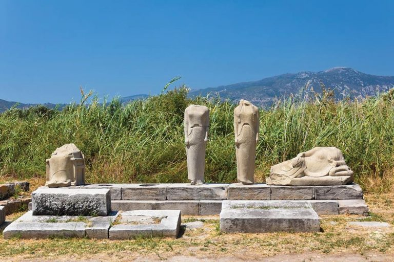 The ruins of the temple of Hera, Ireon, Samos