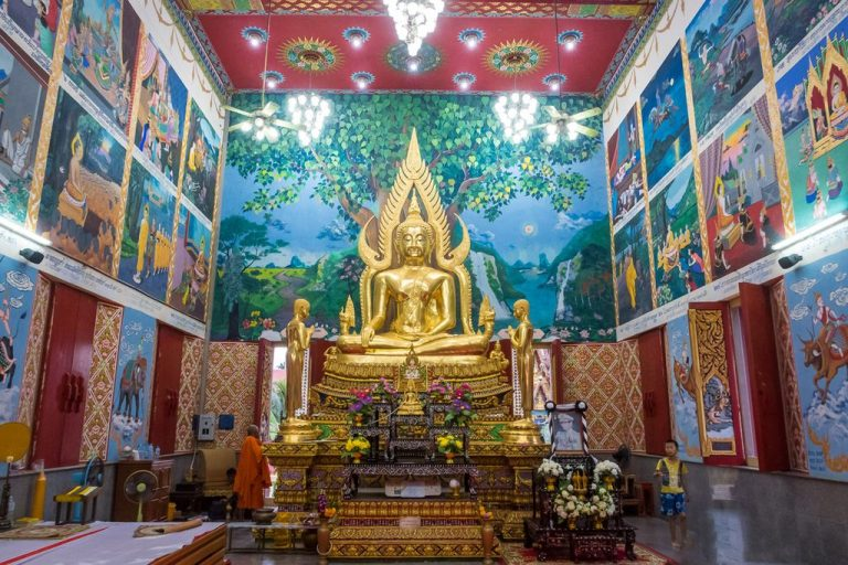 Golden Buddha Statue at Bot Temple