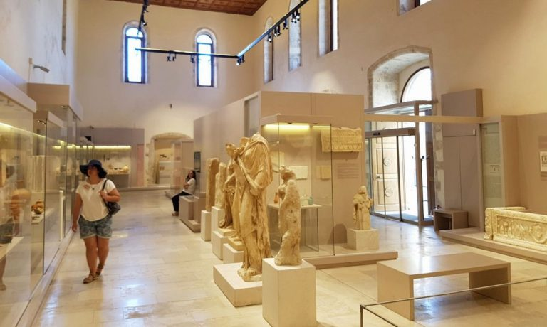 At the Archaeological Museum of Rethymnon