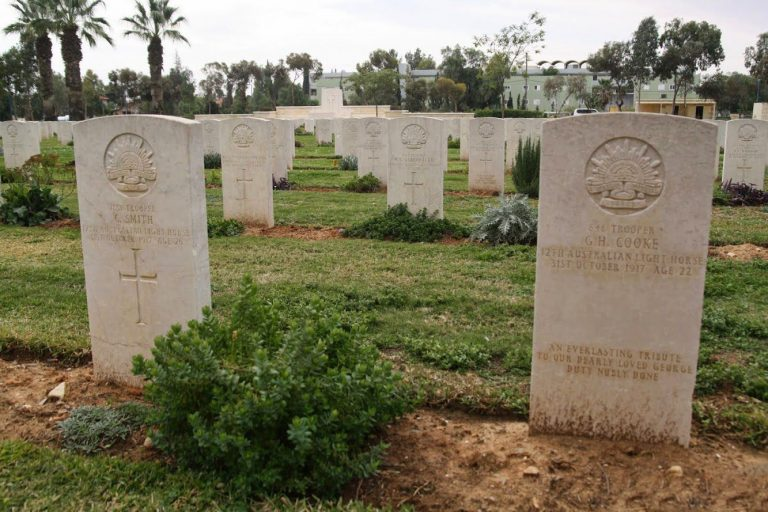 At the British military cemetery in Beersheba