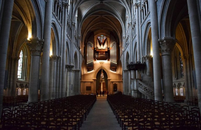 In the cathedral of Lausanne