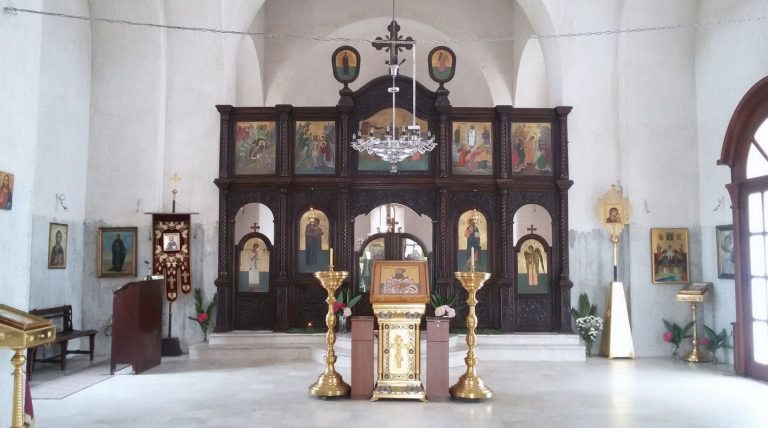 The interior of the church of St. Sava