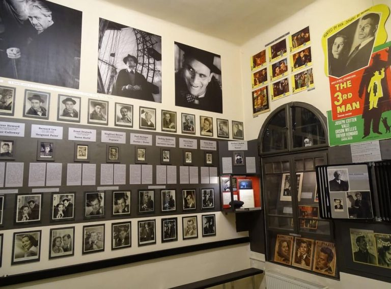 "In the museum dedicated to the film ""The Third Man"""