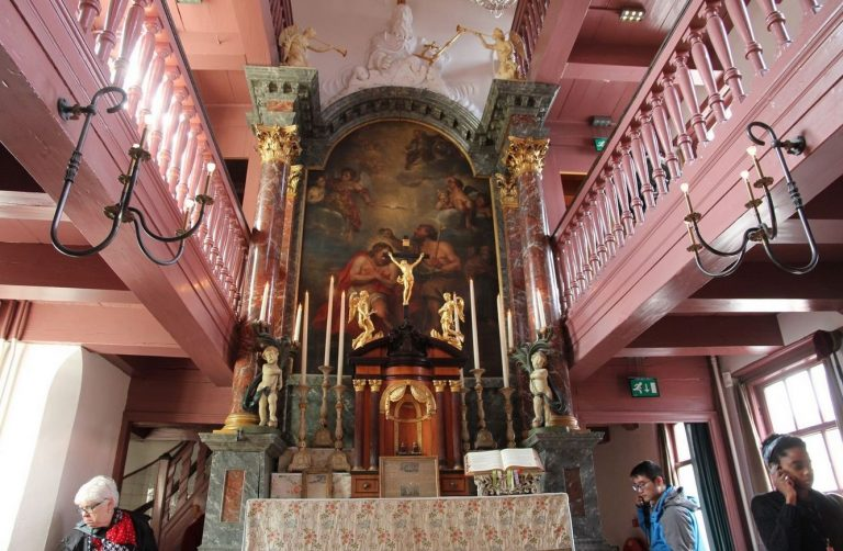The altar of the church of the beloved of our Lord in the attic