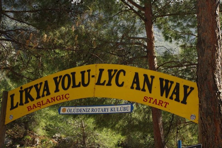 Beginning of the Lycian Trail