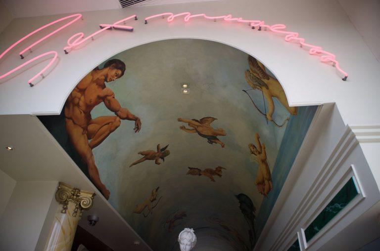 Ceiling at the sex museum
