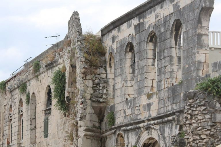 The fortress walls of the palace of Diocletian