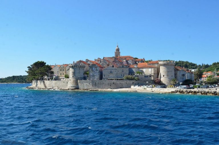 Fortress walls of Korcula