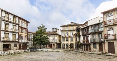 Centuries old buildings standing in the historical center of Guimarães