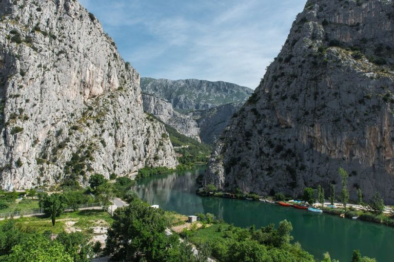 The mouth of the Cetina River